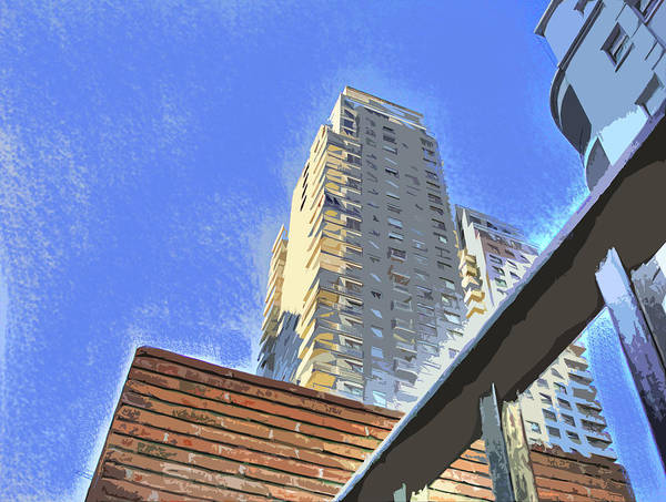 Building Art Print featuring the photograph Reaching For The Sky by Francisco Colon