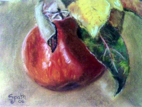 Fruit Art Print featuring the painting Red Apple by Jack Spath