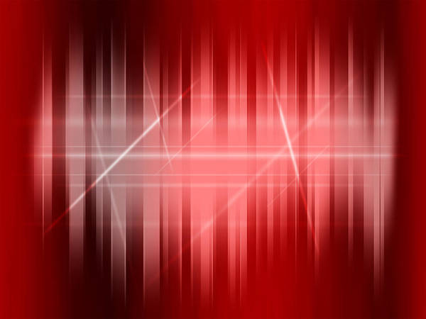 Red Art Print featuring the digital art Red Rays by Michael Tompsett