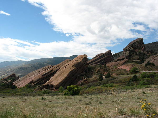 Red Rocks Art Print featuring the photograph Red Rocks Denver by Margaret Fortunato