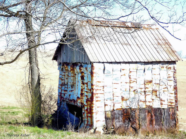 Old Building Art Print featuring the photograph Remnant Of The Past by Theresa Asher