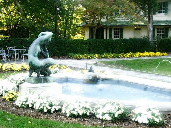 Fountain Art Print featuring the photograph Reynolda Fountain by Scarlett Royal
