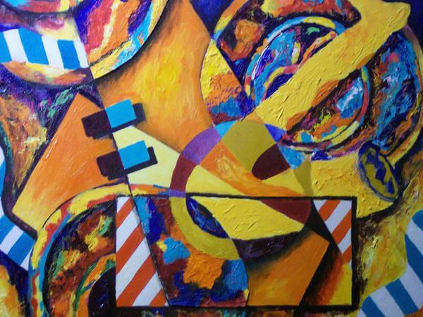 Saxophone Art Print featuring the mixed media Rhythm by Angela Green