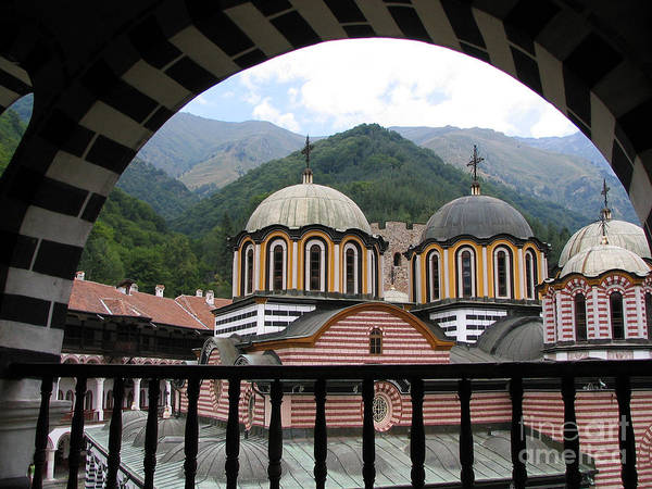 Monastery Art Print featuring the photograph Rila Monastery by Iglika Milcheva-Godfrey