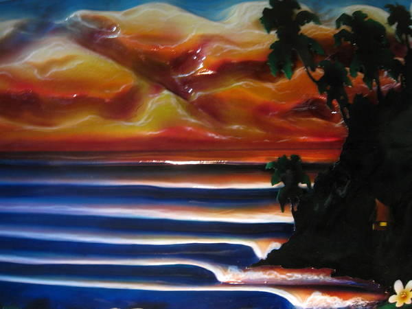 Surf Art Print featuring the sculpture Rincon2 by Ronnie Jackson