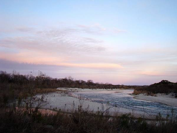 River Art Print featuring the photograph River At Dusk One by Ana Villaronga