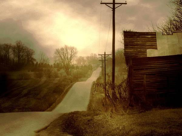 Fine Art Photograph Art Print featuring the photograph Road To Smalley Lake by Michael L Kimble