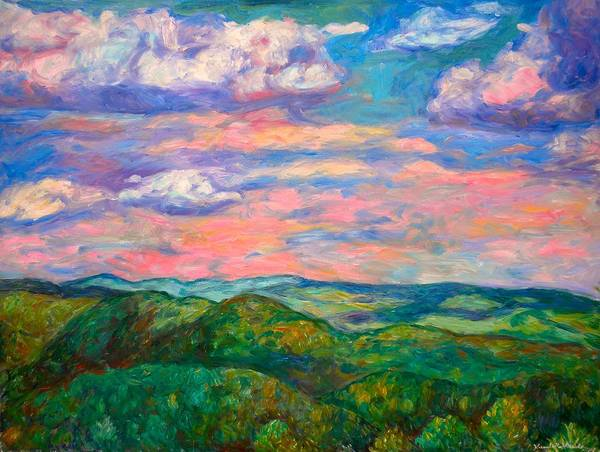 Landscape Paintings Art Print featuring the painting Rock Castle Gorge by Kendall Kessler
