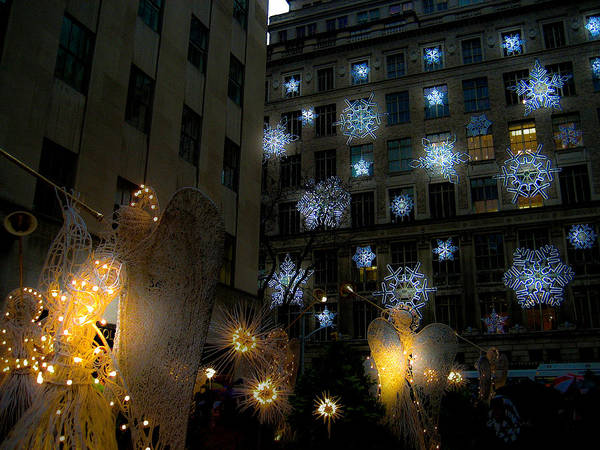 New York Art Print featuring the photograph Rockefeller Center Christmas by Patrick Flynn