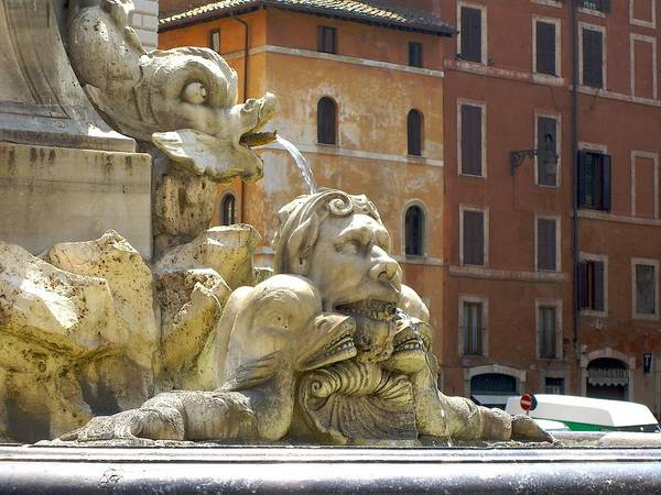 Rome Art Print featuring the photograph Roman Fountain by Deanna Keahey