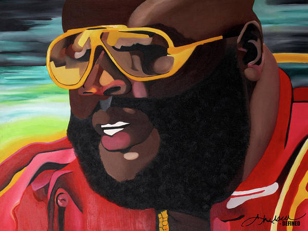 Rick Ross Art Print featuring the painting Rozay by Chelsea VanHook