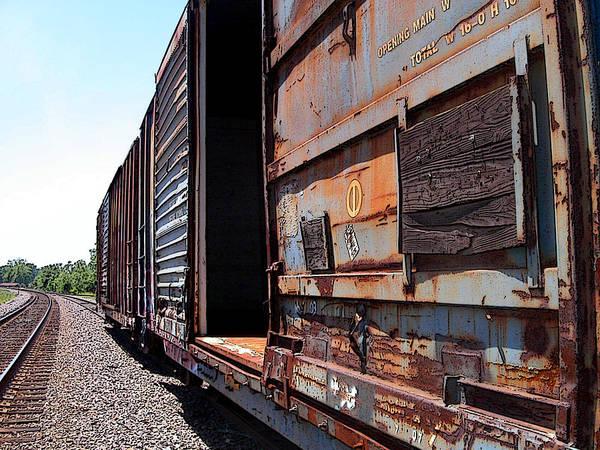 Train Art Print featuring the photograph Rustic Train by Anne Cameron Cutri