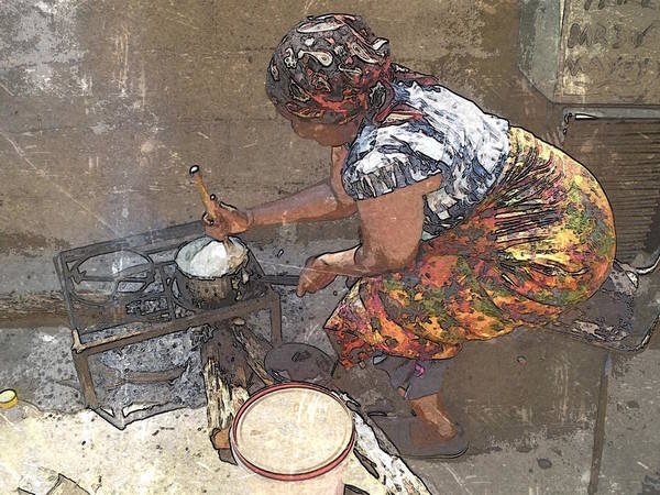Africa Art Print featuring the photograph Sadza by Al Harden