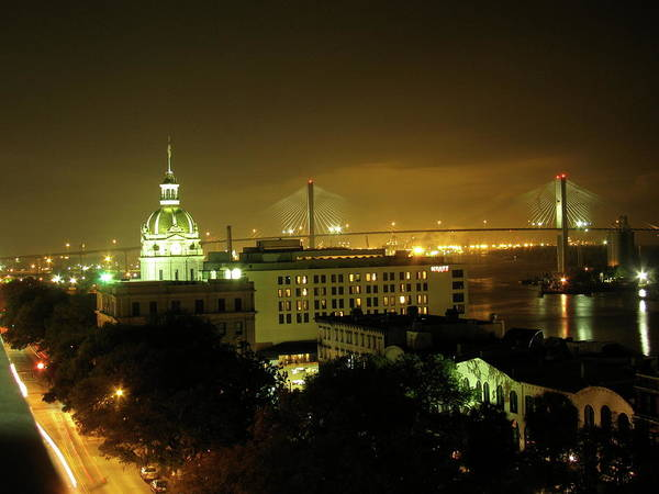Savannah Art Print featuring the photograph Savannah At Night by Timothy Olmstead