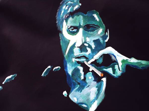 Al Pacino Art Print featuring the painting Scarface by Colin O neill