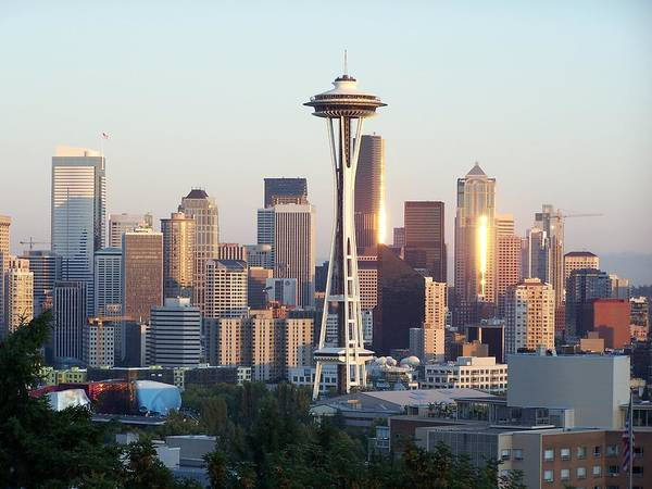 Seattle Art Print featuring the photograph Seattle Sunset by Gene Ritchhart