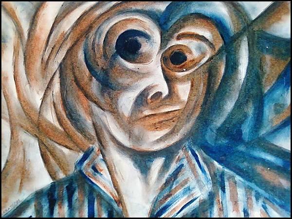 Self-portrait Art Print featuring the digital art Self-portrait by Paulo Zerbato