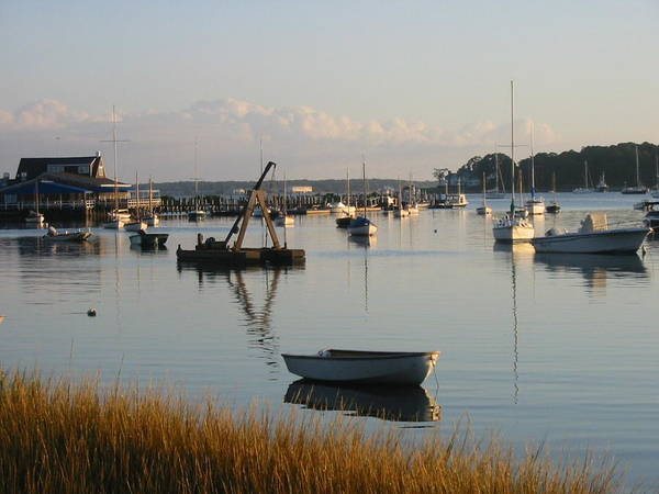 Boats Art Print featuring the photograph Shelter Island Morning by Russ Harriger