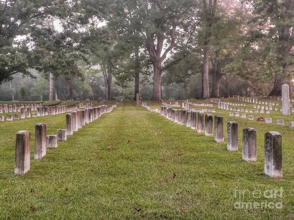 Shiloh National Cemetery Print featuring the photograph Shiloh Morning by David Bearden
