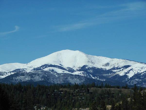White Mountain Art Print featuring the photograph Sierra Blanca Mountain by Brenda Purvis