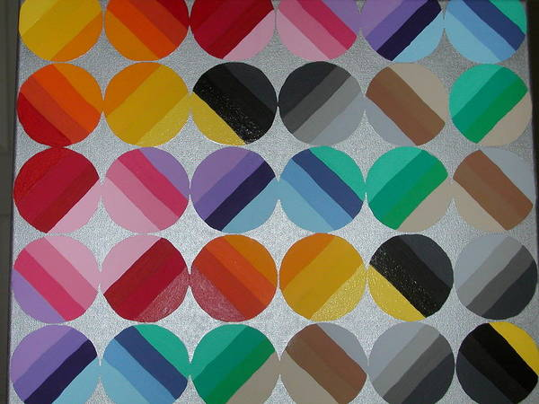 Circles Of Yellow Art Print featuring the painting Silver Lining by Gay Dallek