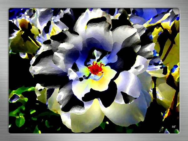 Rose Art Print featuring the digital art Silver Rose by Will Borden