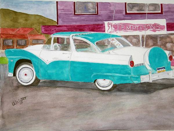 Car Art Print featuring the painting Skagway Gold by Larry Wright