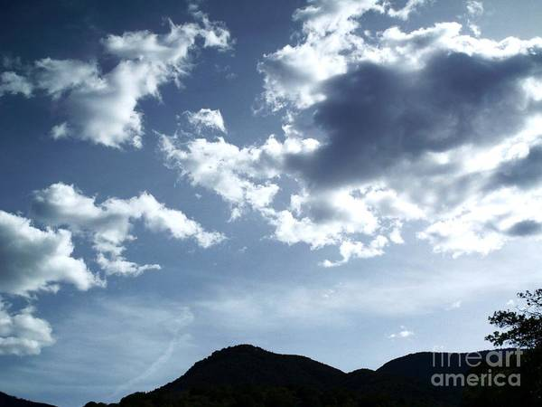 Sky Over Mountain In Arizona Art Print featuring the photograph Sky Over Arizona by Stanley Morganstein