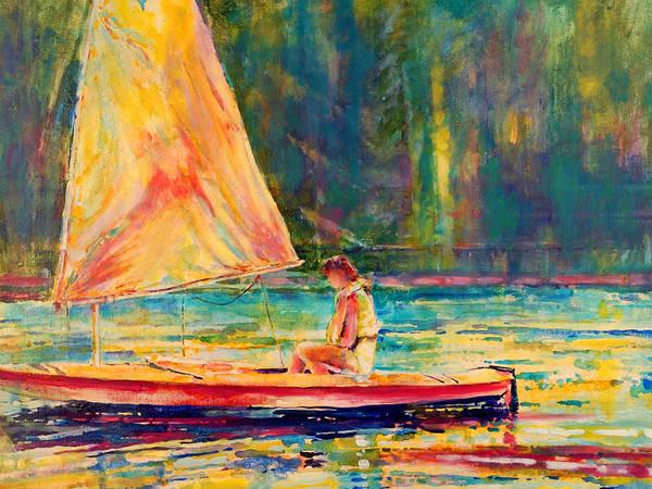 Sun Fish Art Print featuring the painting Slight Breeze I by Kip Decker