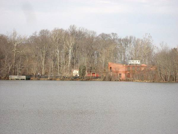 Lake Art Print featuring the photograph Smithville Park's Old Mill Factory by Jennifer Sweet