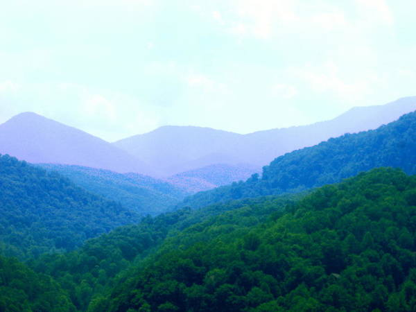 Mountains Art Print featuring the photograph Smokies In Spring by Utopia Concepts