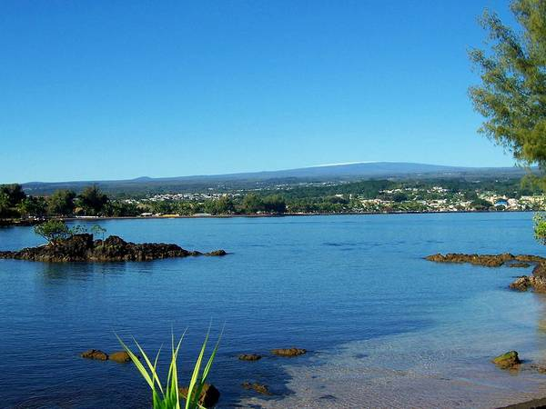Hilo Bay Art Print featuring the photograph Snow On Mauna Loa by Dina Holland