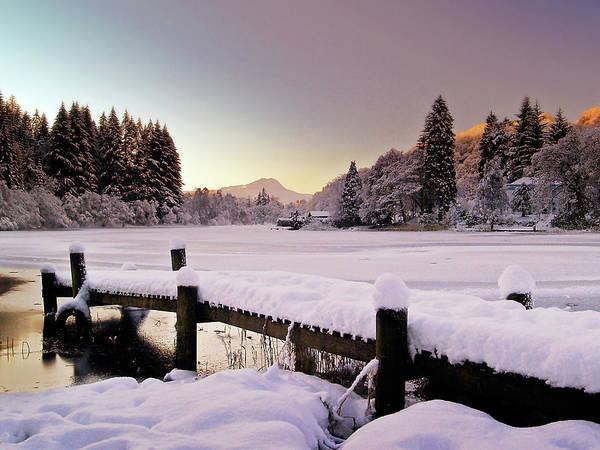 Loch Ard Art Print featuring the photograph Snow Over Loch Ard by Amanda Finan