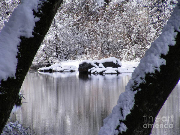Snowy Bear River Art Print featuring the photograph Snowy Bear River by Nancy Chambers