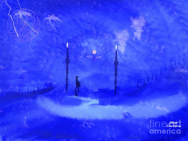 Blues Art Print featuring the painting Somewhere In A Dream by Sherri's - Of Palm Springs