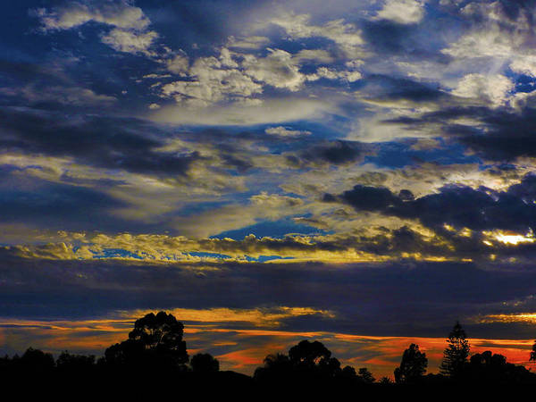 Sunset Art Print featuring the photograph Somewhere by Mark Blauhoefer