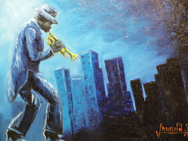 Soul Art Print featuring the painting Soul City by Charles Vaughn