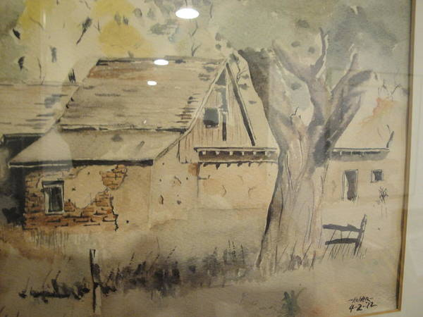 Barn Art Print featuring the painting Southland Adobe Barn by Steven Holder