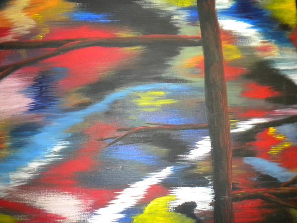 Colorful Art Print featuring the painting Spinning by Hollie Leffel