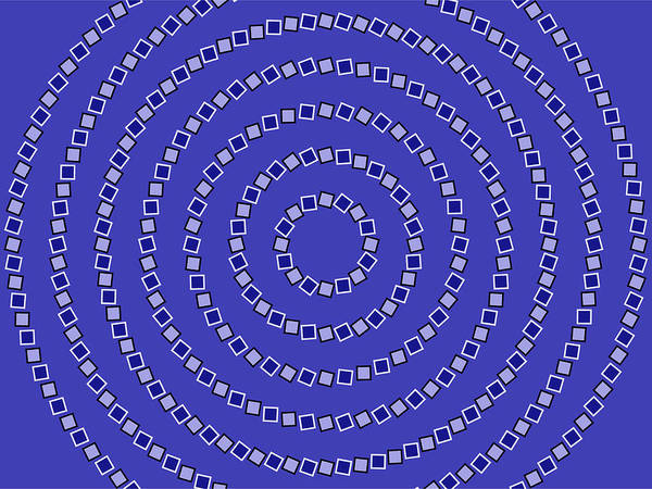 Optical Illusion Art Print featuring the digital art Spiral Circles by Michael Tompsett