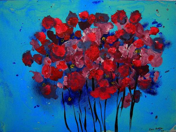 Flowers Art Print featuring the painting Spring '09 by Ben Potter