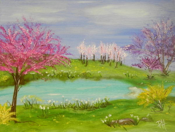 Colorful Art Print featuring the painting Spring Fever by Patti Spires Hamilton
