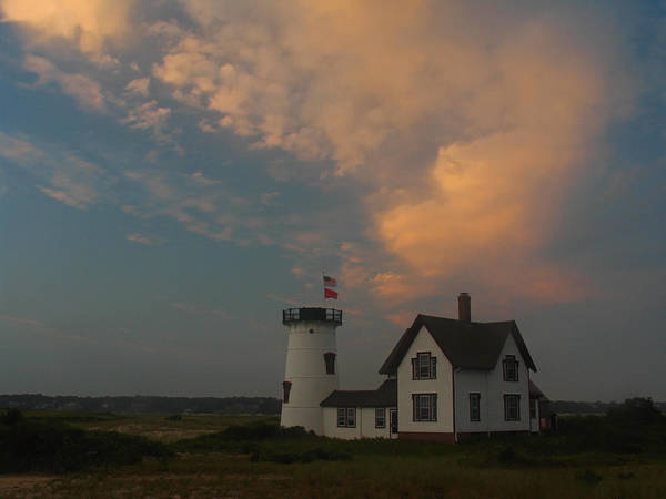 Lighthouse Art Print featuring the photograph Stage Harbor Lighthouse by Juergen Roth