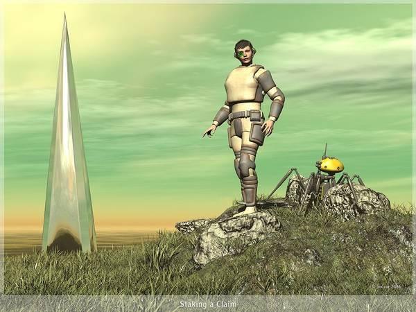Jim Coe Art Print featuring the digital art Staking Their Claim by Jim Coe
