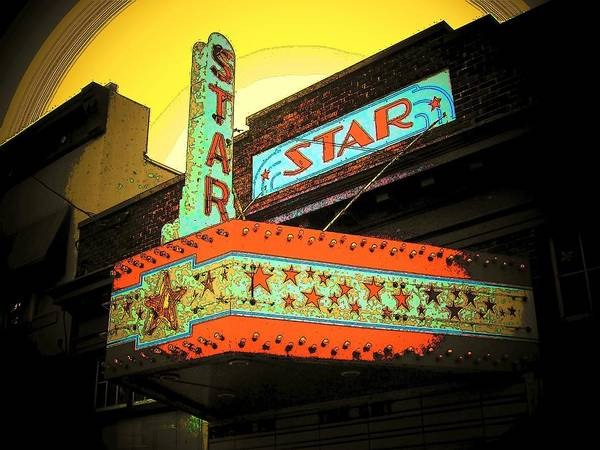 Theater Art Print featuring the photograph Star Theater by Michael L Kimble