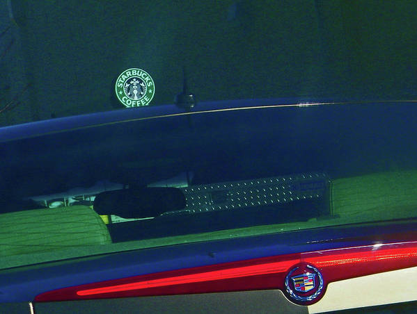 Abstract Art Print featuring the digital art Starbucks 2 by Lenore Senior