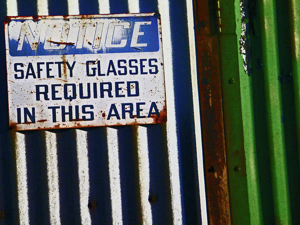 Abstract Art Print featuring the photograph Steel City--safety Glasses by Lenore Senior