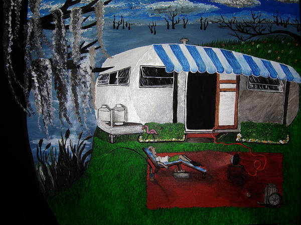 Trailer Art Print featuring the painting Stereotype by Sharon Supplee