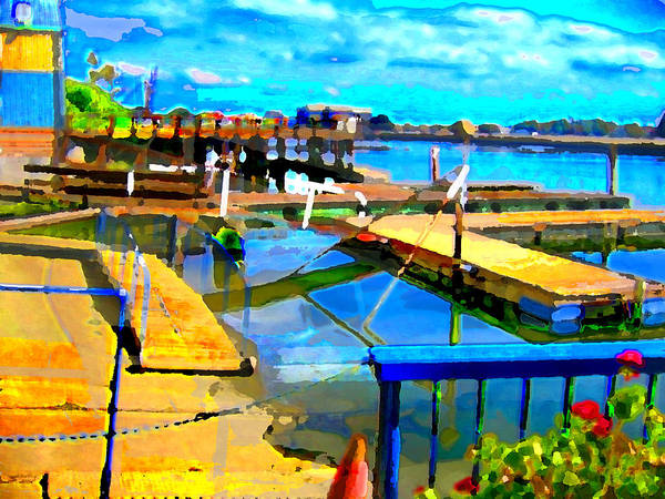 Art Print featuring the digital art Stockton Harbor by Danielle Stephenson