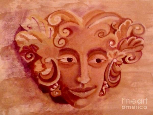 Woman Art Print featuring the painting Stone Woman by Monica Pope